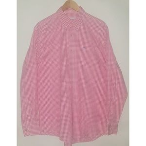 Southern Tide Pink and White Shirt Sz L